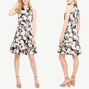 ANN TAYLOR Blossom Cotton Blend Belted Shirtdress